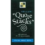 Die Cuts With a View - Vellum Quote Stacks - It's All About Boys