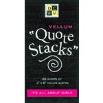 Die Cuts With a View - Vellum Quote Stacks - It's All About Girls, CLEARANCE