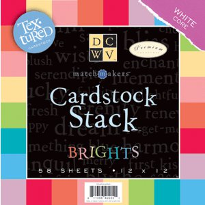 Die Cuts with a View - Cardstock Stack - White Core - Textured - 12x12 - Brights