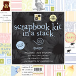 Die Cuts with a View - 12x12 Scrapbook Kit In a Stack - Baby
