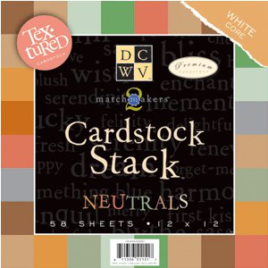 Die Cuts with a View - Cardstock Stack - White Core - Textured - 12x12 - Neutrals