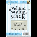 Die Cuts with a View - 4 x 6 Vellum Sayings Stacks - Baby Boy, CLEARANCE