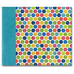 Die Cuts with a View - The Dots Stripes and Plaids Collection - 12 x 12 Postbound Album with Glitter Accents