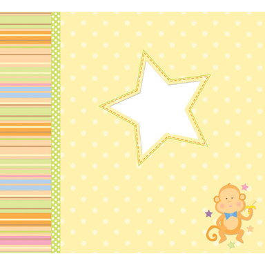 Die Cuts with a View - Nana's Kids Collection - 12x12 Glitter Album