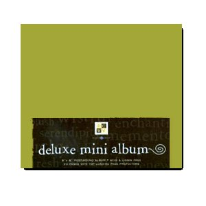 Die Cuts with a View - Post Bound Album 8x8 - Green, CLEARANCE