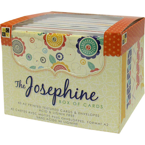 Die Cuts with a View - Box of Cards - Printed and Textured Cards and Envelopes - Josephine - A2 size