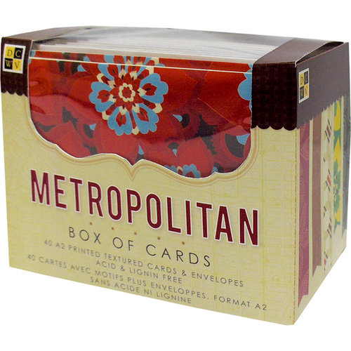 Die Cuts with a View - Box of Cards - Printed and Textured Cards and Envelopes - Metropolitan - A2 size
