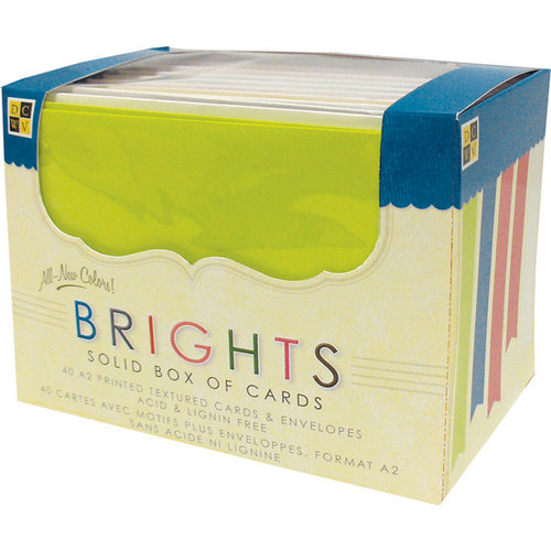 Die Cuts with a View Solid Box Cards Printed Textured Cards Envelopes Brights A2
