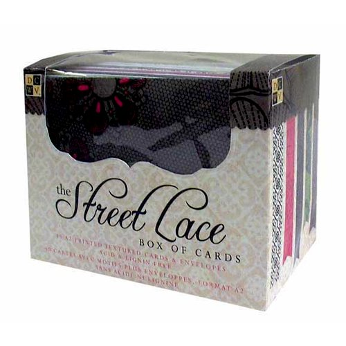Die Cuts with a View - Box of Cards - Printed and Textured Cards and Envelopes - The Street Lace - A2 Size