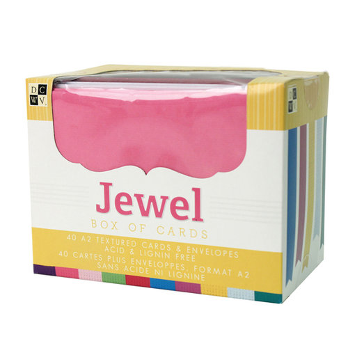 Textured Cards and Envelopes - Jewel - A2 Size