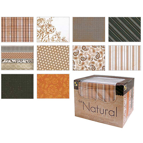 Die Cuts with a View - Box of Cards - Printed and Textured Cards and Envelopes - The Natural - A2 size