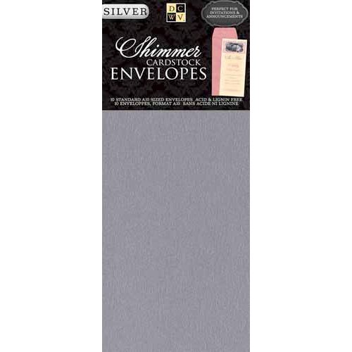 Die Cuts with a View - Shimmer Cardstock Envelopes - A10 - Silver
