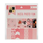 Die Cuts with a View - Insta Photo Fun Collection - Pink Stack - 24 Sheets