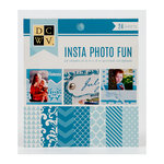 Die Cuts with a View - Insta Photo Fun Collection - Blue Stack - 24 Sheets