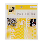 Die Cuts with a View - Insta Photo Fun Collection - Yellow Stack - 24 Sheets