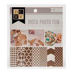Die Cuts with a View - Insta Photo Fun Collection - Kraft and White Stack - 16 Sheets