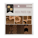 Die Cuts with a View - Insta Photo Fun Collection - Kraft and Black Stack - 16 Sheets