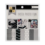 Die Cuts with a View - Insta Photo Fun Collection - White and Silver Stack - 16 Sheets