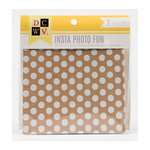 Die Cuts with a View - Insta Photo Fun Collection - 4.5 x 4.5 Chipboard Album - Kraft and White