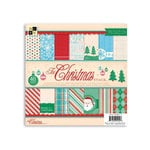 Die Cuts with a View - The Christmas Collection - Glitter Paper Stack - 8 x 8