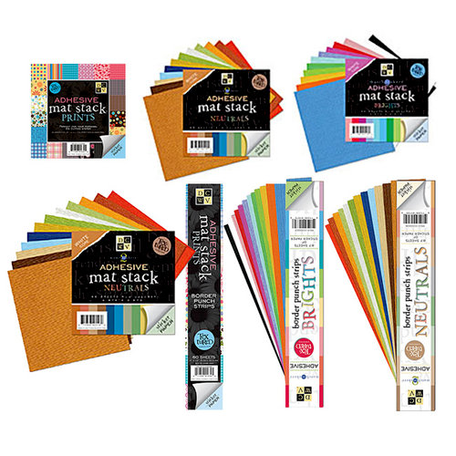 Die Cuts with a View - Textured Adhesive Cardstock Kit - 120 Pieces, CLEARANCE