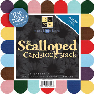 Die Cuts With A View - Large Scalloped Cardstock Stack - 8x8, CLEARANCE