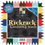 Die Cuts With A View - Rickrack Pinked Cardstock Stack - 12x12, CLEARANCE