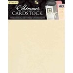 Die Cuts with a View - 8.5 x 11 Shimmer Cardstock Pack - Ivory