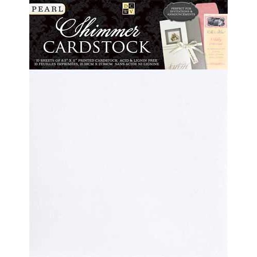 Die Cuts with a View - 8.5 x 11 Shimmer Cardstock Pack - Pearl