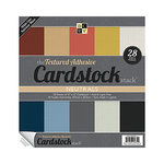 Die Cuts with a View - Adhesive Textured Cardstock Stack - 12 x 12 - Neutrals