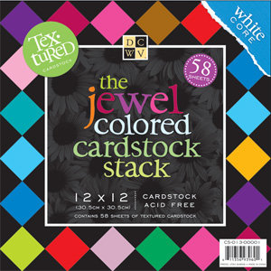 Die Cuts With A View - Jewel Colored Cardstock Stack - 12x12