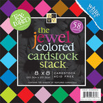 Die Cuts With A View - Jewel Colored Cardstock Stack - 8x8