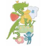 Die Cuts With A View - Nana's Nursery Collection - Chipboard Box - Shapes and Letters - 100 Pieces, CLEARANCE