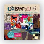 Die Cuts with a View - The Colorful Life Collection - Glittered Chipboard Box of Embellishment Pieces
