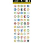 Die Cuts with a View - Grade School Collection - Epoxy Stickers with Glitter Accents - Alphabet
