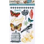 Die Cuts with a View - The Mariposa Collection - Rub Ons with Glitter Accents