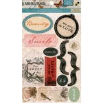 Die Cuts with a View - The Mariposa Collection - Cardstock Stickers with Glitter Accents - Icons