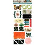 Die Cuts with a View - The Mariposa Collection - Epoxy Sticker with Glitter Accents- Icons