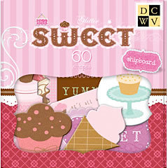 Die Cuts With A View - Sweet Collection - Glitter Chipboard Box, CLEARANCE