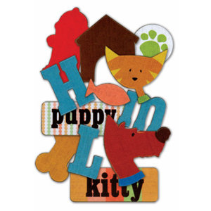 Die Cuts With A View - Pets Collection - Chipboard Box - Shapes and Letters - 100 Pieces, CLEARANCE