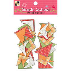 Die Cuts With A View - Grade School Collection - Chipboard Photo Corners