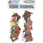 Die Cuts With A View - High School Collection - Chipboard Photo Corners, CLEARANCE