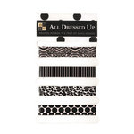 Die Cuts with a View - All Dressed Up Collection - Self-Adhesive Ribbon - Black Tie