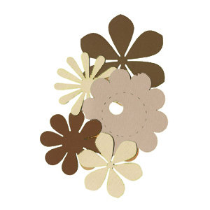 Die Cuts with a View - Box of Posies - Browns and Creams, CLEARANCE