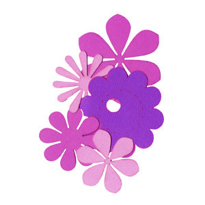 Die Cuts with a View - Box of Posies - Purple, CLEARANCE