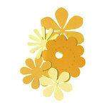 Die Cuts with a View - Box of Posies - Orange and Yellows, CLEARANCE