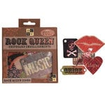 Die Cuts with a View - Rock Star Collection - Chipboard Box - Rock Queen, CLEARANCE