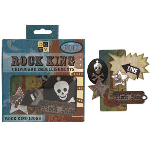 Die Cuts with a View - Rock Star Collection - Chipboard Box - Rock King, CLEARANCE
