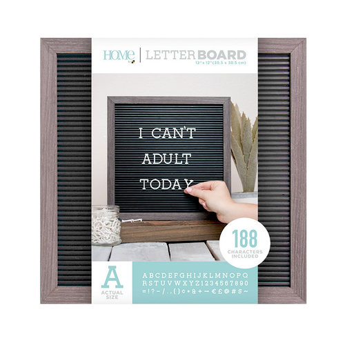 Die Cuts with a View - Letter Board - Silver Walnut Frame with Black - 12 x 12