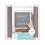 Die Cuts with a View - Letter Board - Oak Frame with Gray - 12 x 12